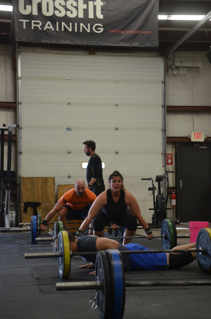 Rachie and Shady getting set-up for their snatch.