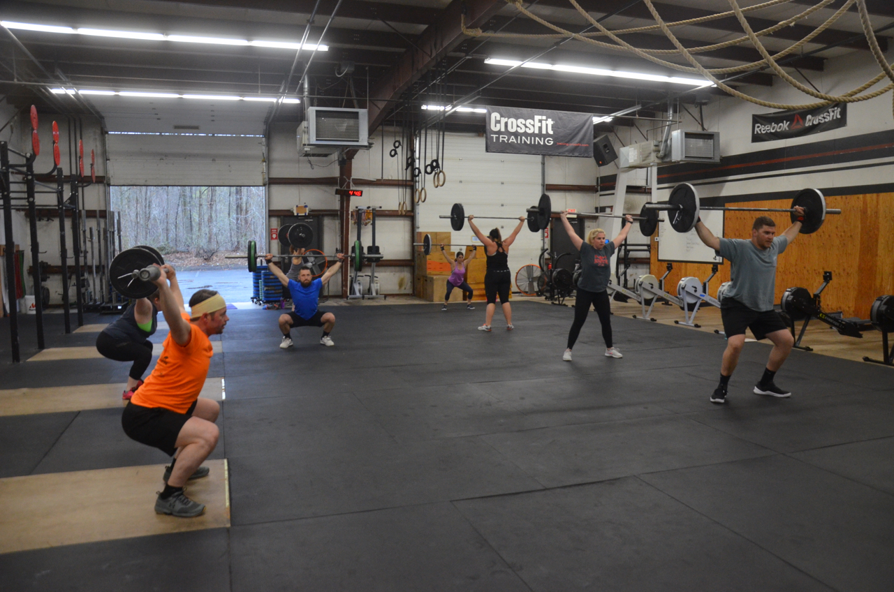The 4pm class on round two of the metcon today.