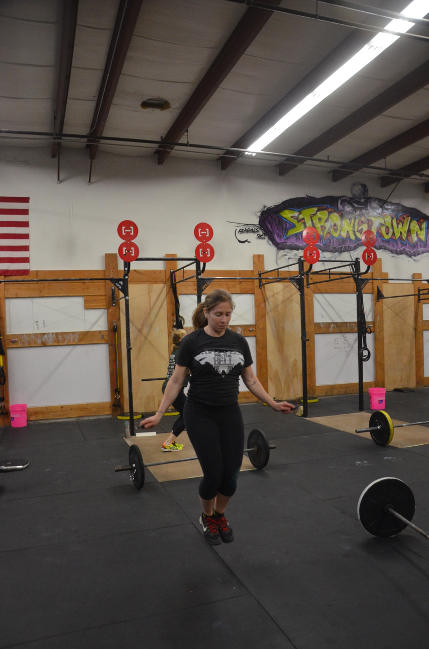 Sophia staying focused during her double unders.