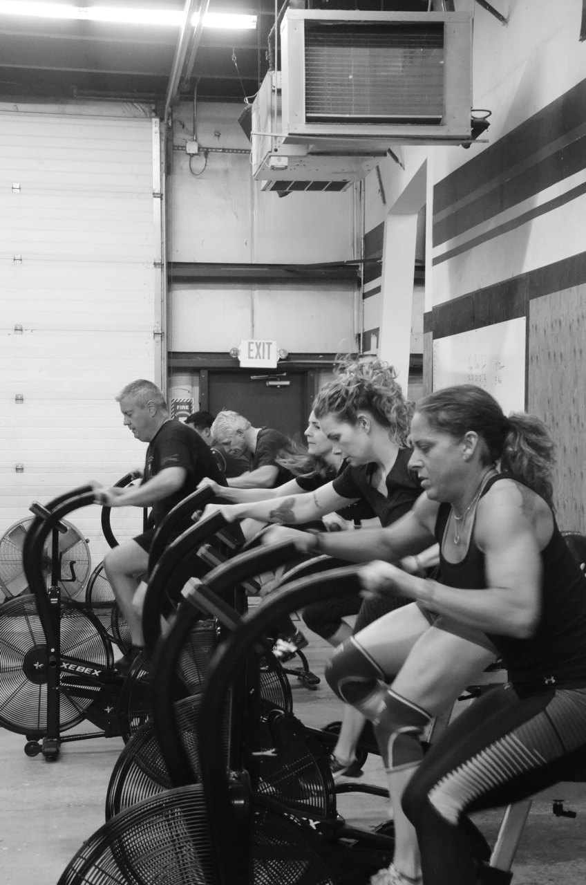 The 6am class during their first minute for max calories.