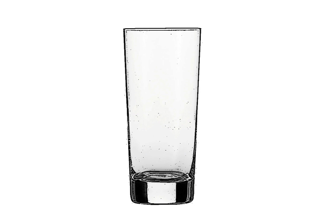 Hi-ball / Highball  Typically, a highball cocktail comprises a spirit base with a larger proportion of non-alcoholic mixture, like a Lyme Breeze. The glass has a thick base (called a tunc) and can usually hold between 240 and 350ml of liquid.