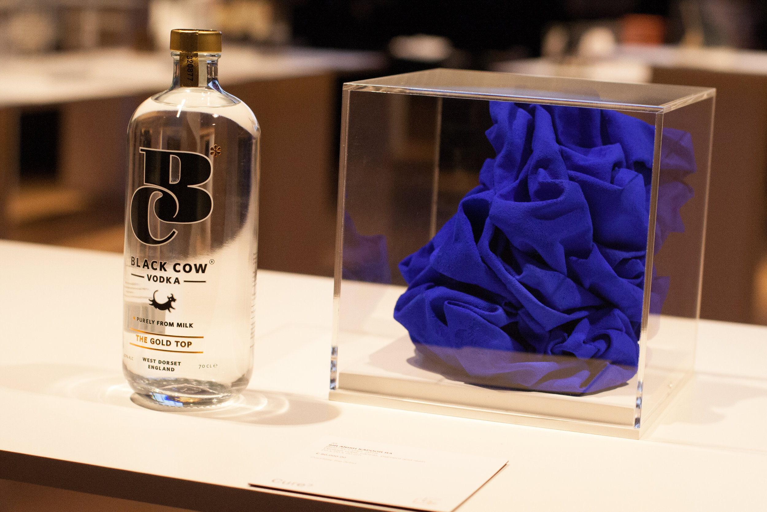 Black Cow Vodka photographed next to Sir Anish Kapoor's cube.jpg