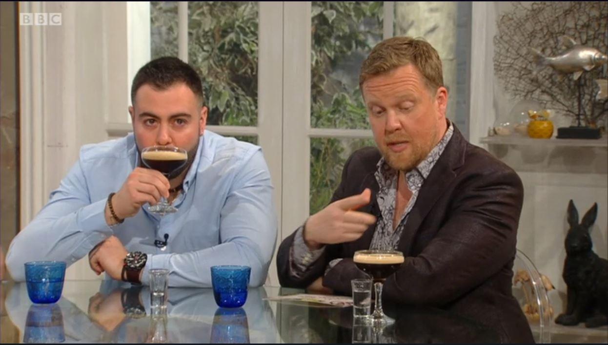 Chef Asimakis Chianiotis + drinks expert Olly Smith