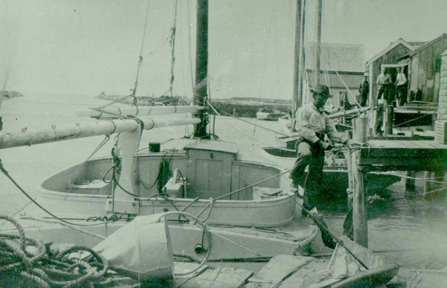 Dan'l Larsen, the first Larsen on Martha's Vineyard and Danny's grandfather, pictured here in Menemsha