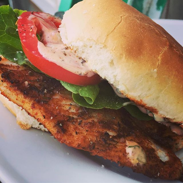 Here's a fun discovery from last night's dinner, coating fluke fillets in spices keeps them from sticking on the grill. And it makes a great sandwich with our new store made remoulade! #fish #fluke #edgartown #sandwich #eeeeeats #remoulade #marthasvineyard