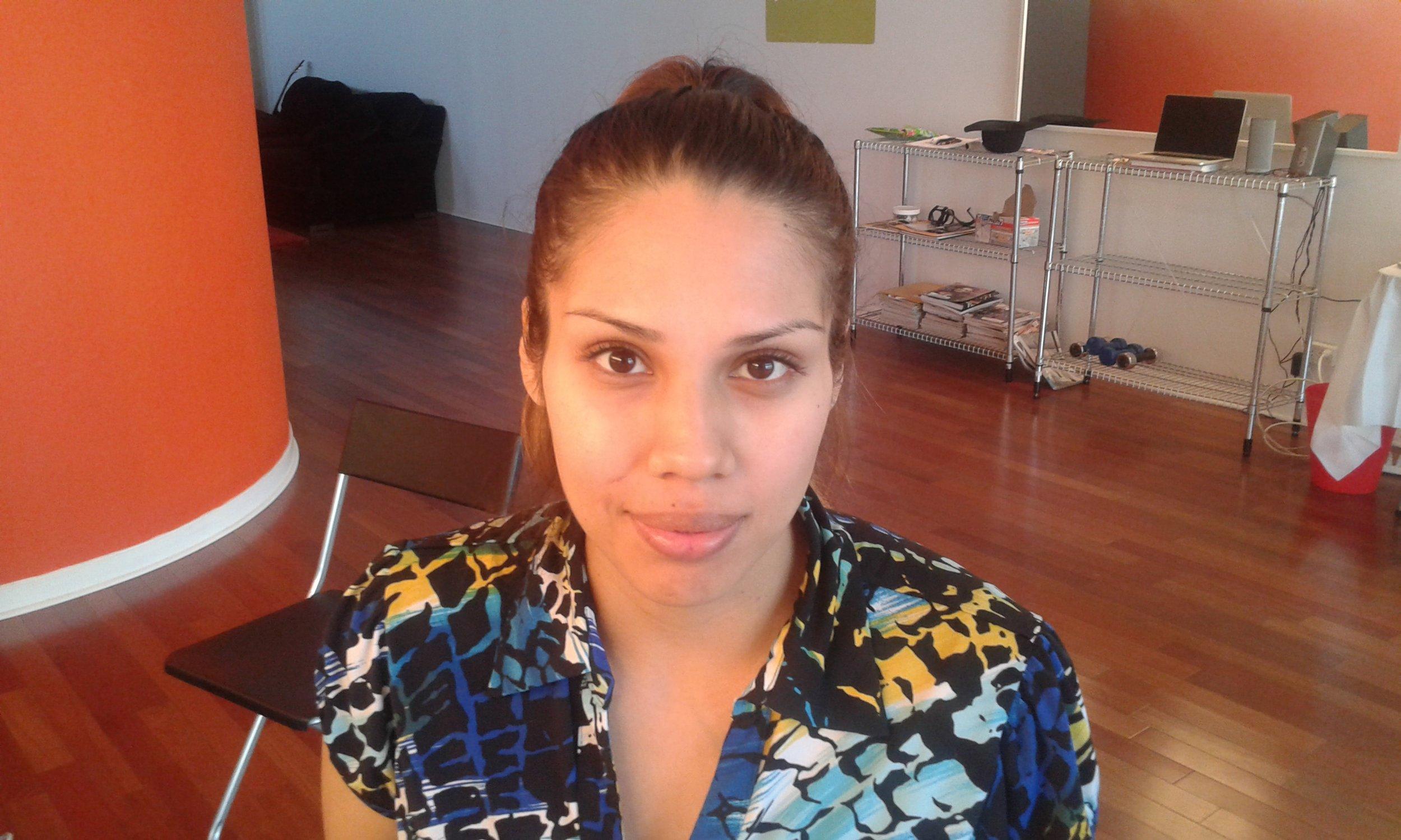 Μοντέλο φωτογράφισης νυφικού μακιγιάζ, Σικάγο ΗΠΑ - Πριν το μακιγιάζ.