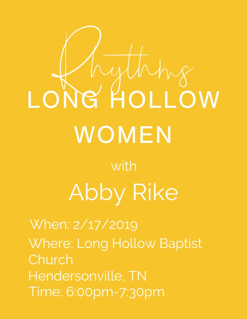 Christian public speaker. Women's event hendersonville, Tn. Long Hollow Baptist Church