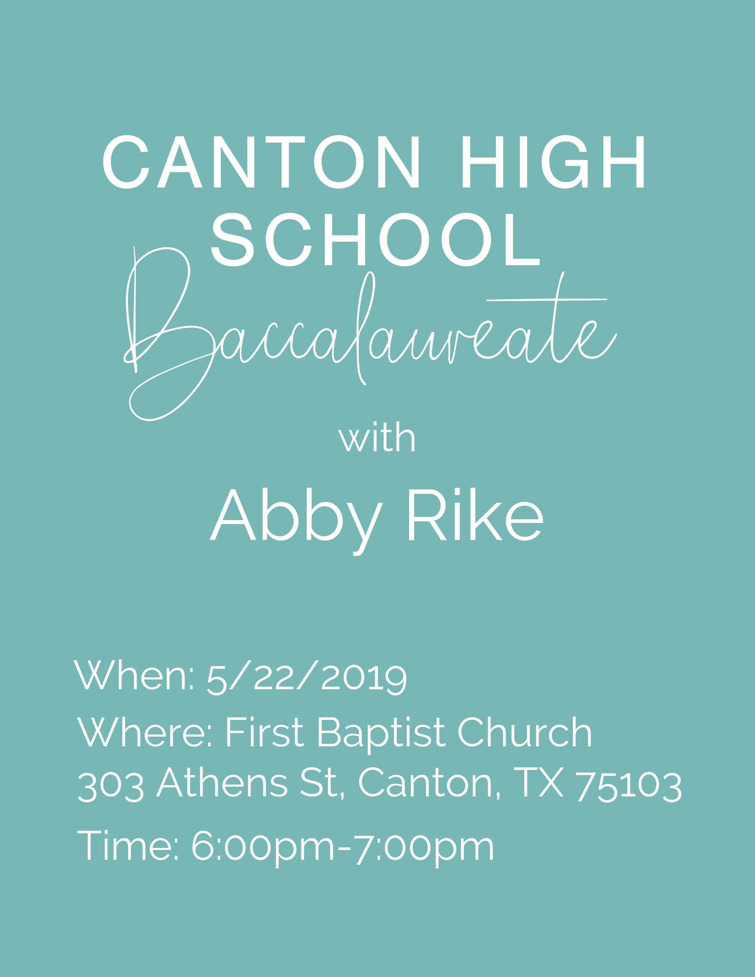 Speaking Event-canton-high-school-baccalaureate-texas