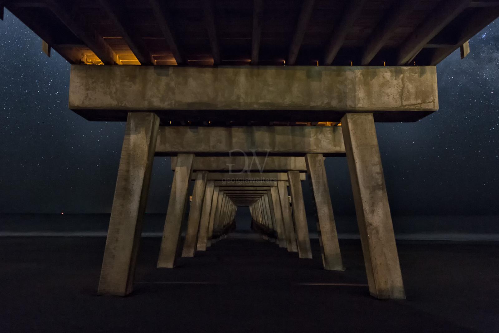 Beneath the Tybee Island pier.