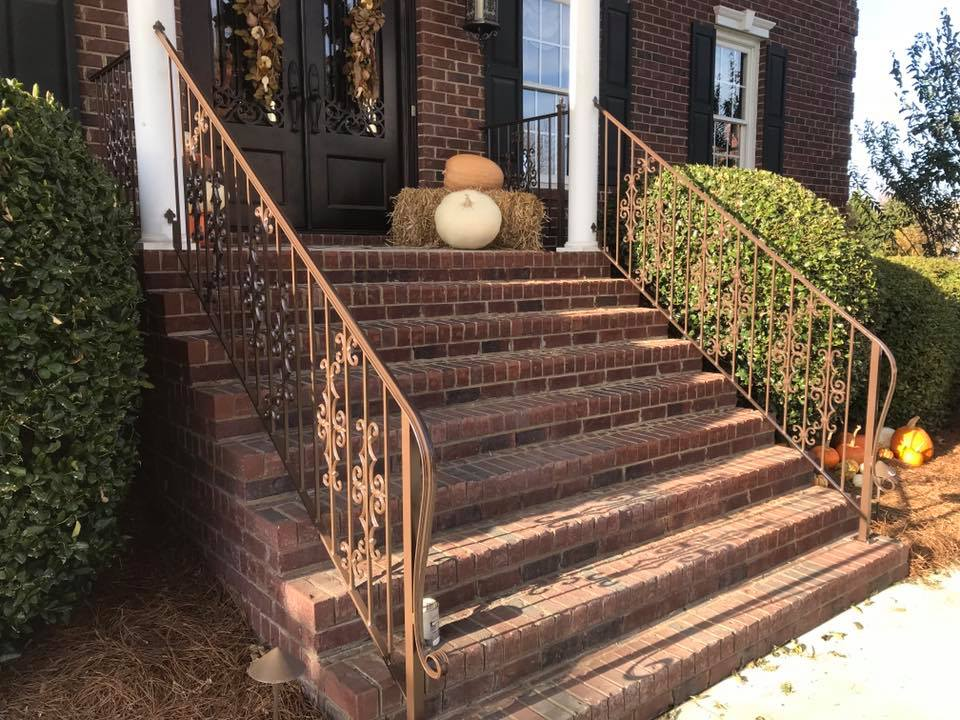 wrought iron stair railing
