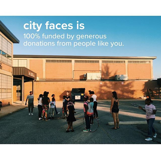 City Faces programming is 100% funded by generous donations from people like you! Our programs do not receive funding from WashU Student Union, and so we need your help!  To donate, venmo @City-Faces, paypal https://www.paypal.me/CityFaces, gofundme https://www.gofundme.com/city-faces-fundraising-week-fall-2018 or go to our website http://www.stlcityfaces.org/donate-2/ for more options.