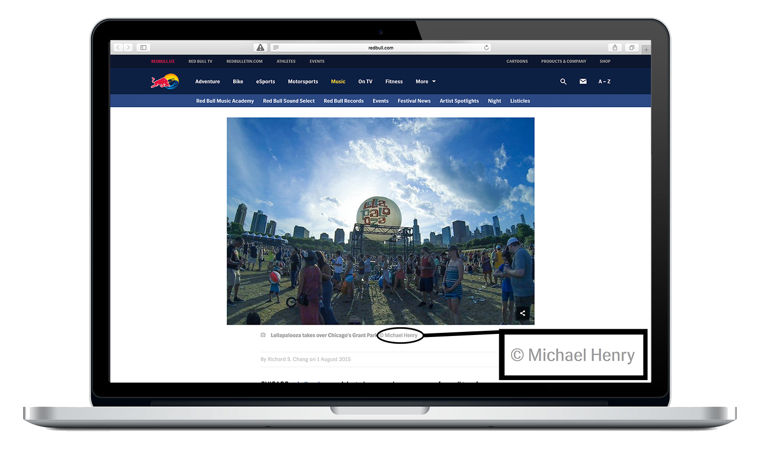 My Image featured on Redbull.com