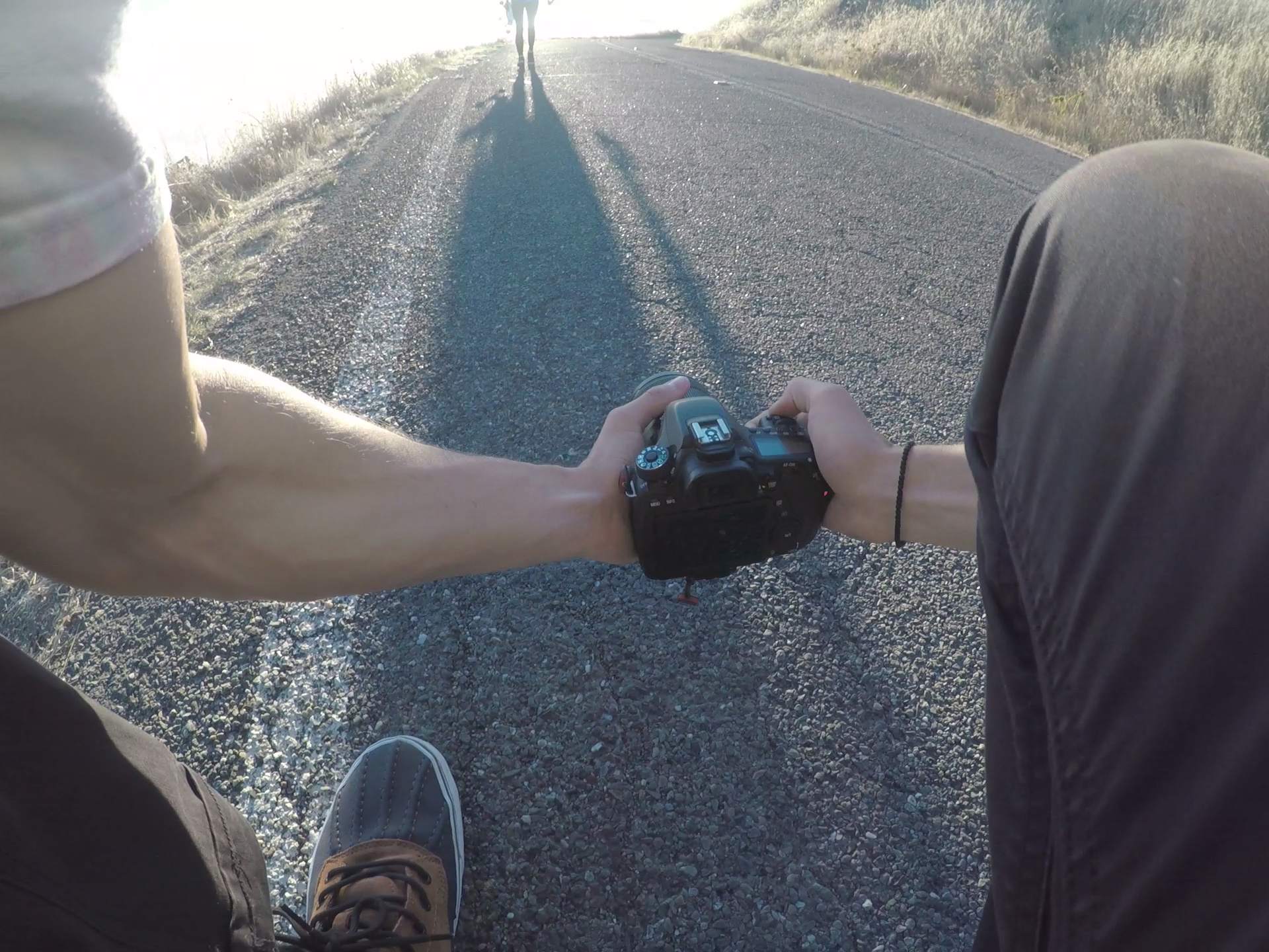 GoPro mounted my chest showing the exact angle used to capture the shot!