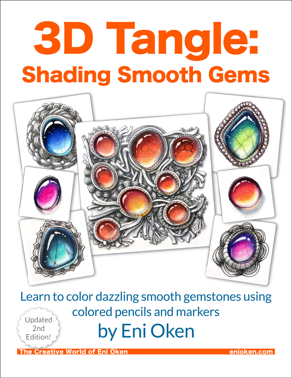 Learn how to shade and color dazzling smooth gemstones • enioken.com