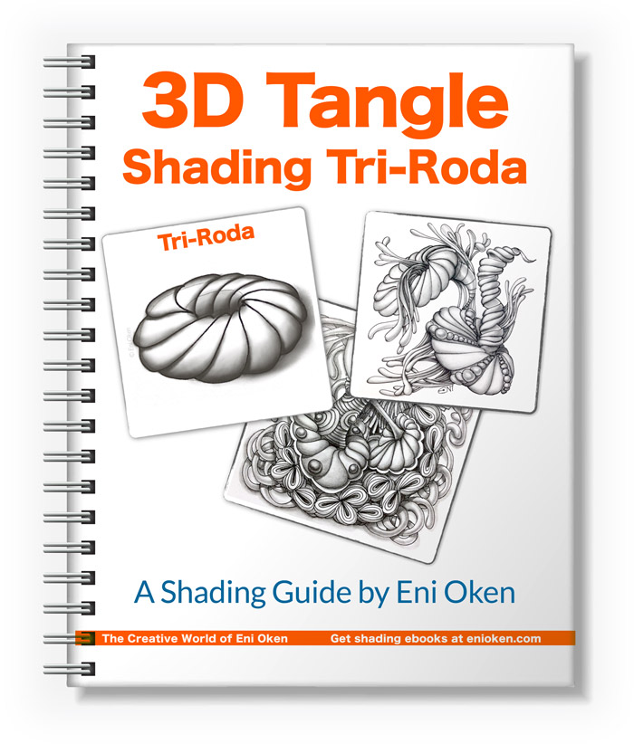 Learn how to shade Tri-roda tangle pattern at enioken.com