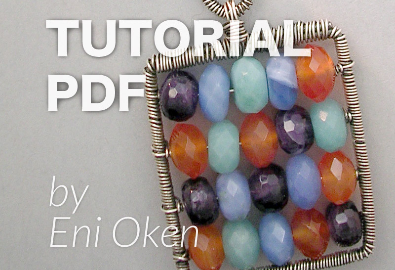 Learn to make a wire wrapped abacus pendant with Eni Oken | enioken.com