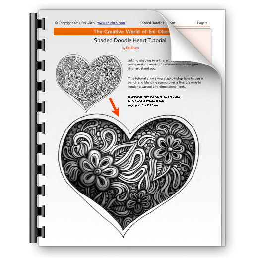 Learn how to shade a doodle heart
