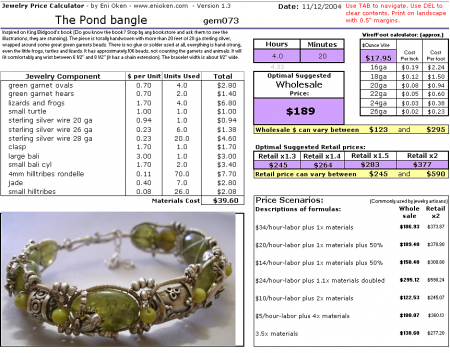 Learn how to price your jewelry • enioken.com