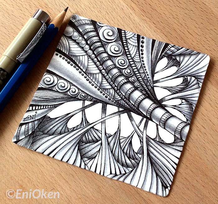 Learn how to shade Zentangle® with Eni Oken • enioken.com