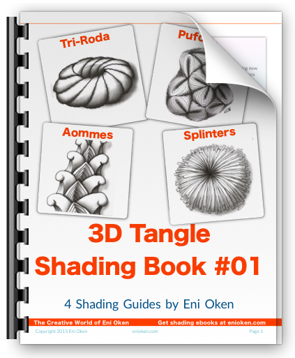 Learn to shade four different tangle patterns