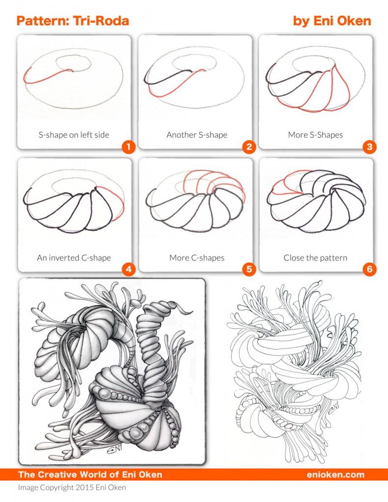 Tri-roda stepout pattern by Eni Oken | enioken.com