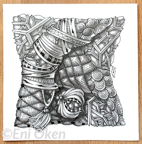 Yincut and Windfarm tangles by Eni Oken. enioken.com