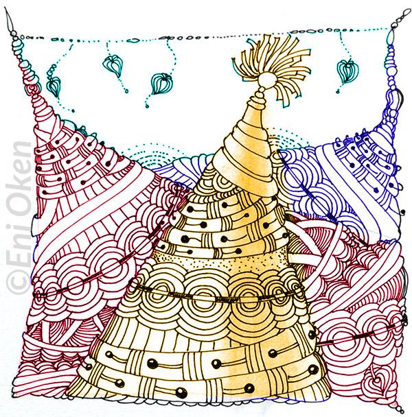 Shading Zentangle® with Eni Oken • enioken.com