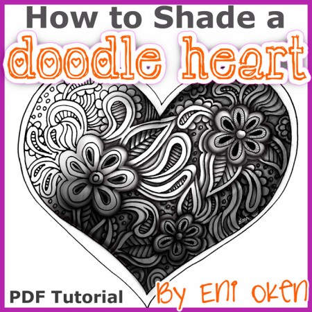 Shading a doodle can turn a line drawing into a fabulous carved heart
