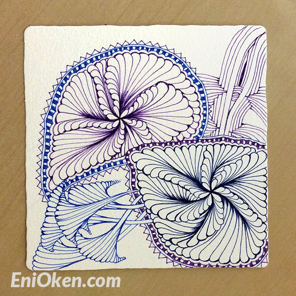 Learn to shade Zentangle® • enioken.com