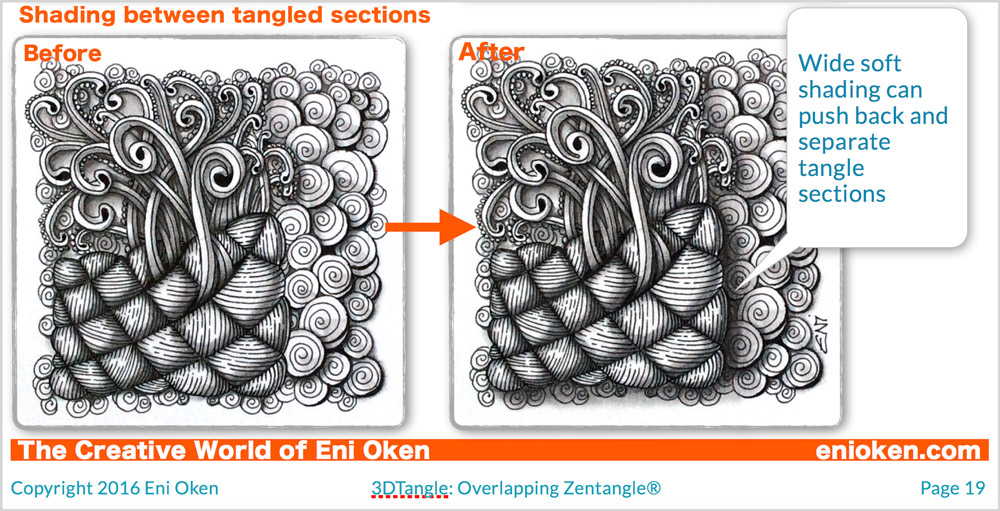 Take Zentangle® to the next level with overlap • enioken.com