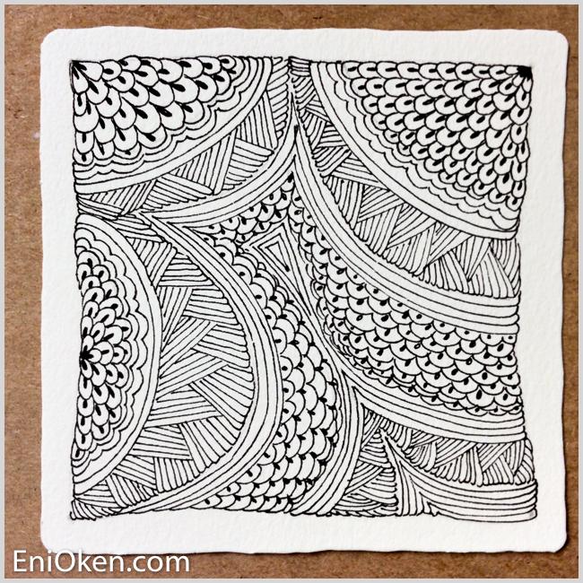 Learn how to draw amazing Zentangle® • enioken.com