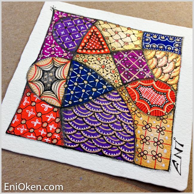 Learn to create sparkling Zentangle® • enioken.com