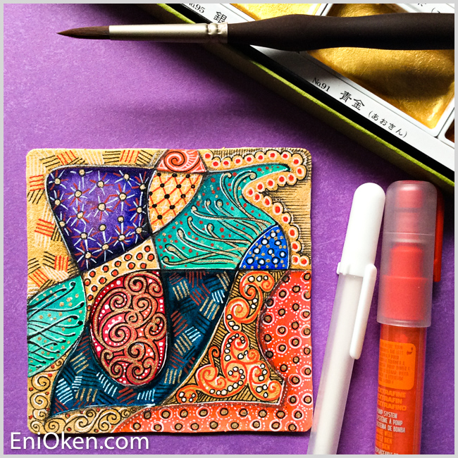 Learn how to create amazing gilded Zentangle® • enioken.com