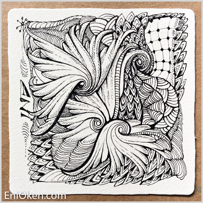 Learn to create amazing Zentangle® with Eni Oken's ebooks and videos • enioken.com