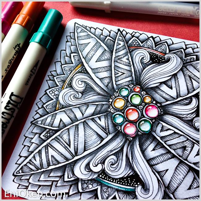 Learn how to make amazing Zentangle® • enioken.com
