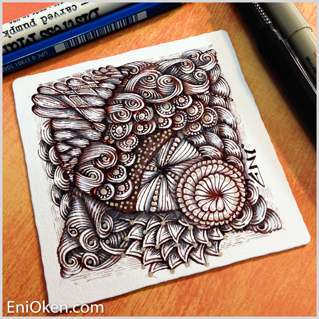 Learn how to draw incredible Zentangle® • enioken.com