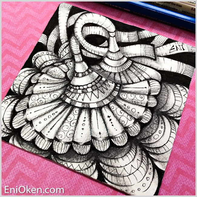 Shading Zentangle with a 6B Pencil is super fun! • enioken.com