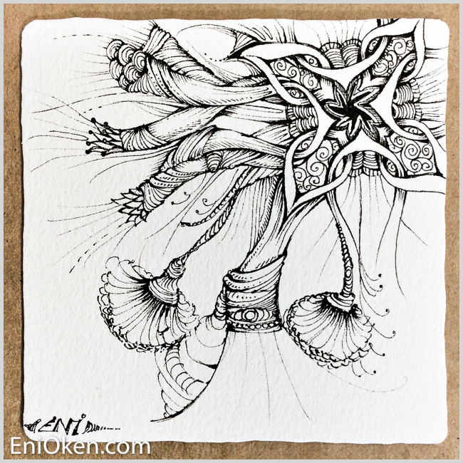 Dreamy Zentangle-Inspired-Art • enioken.com