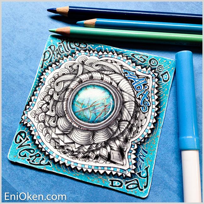 Learn how to create a gorgeous Zentangle® gem brooch • enioken.com