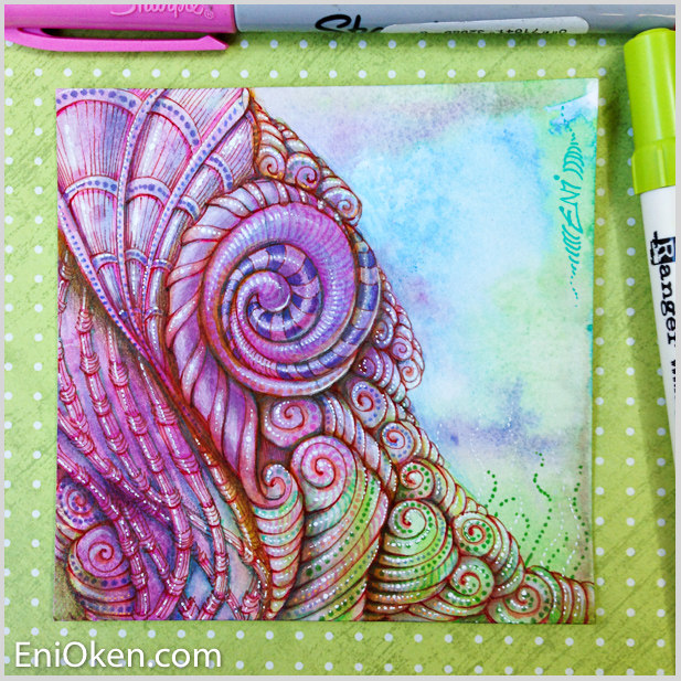 Learn how to distress Zentangle® • enioken.com