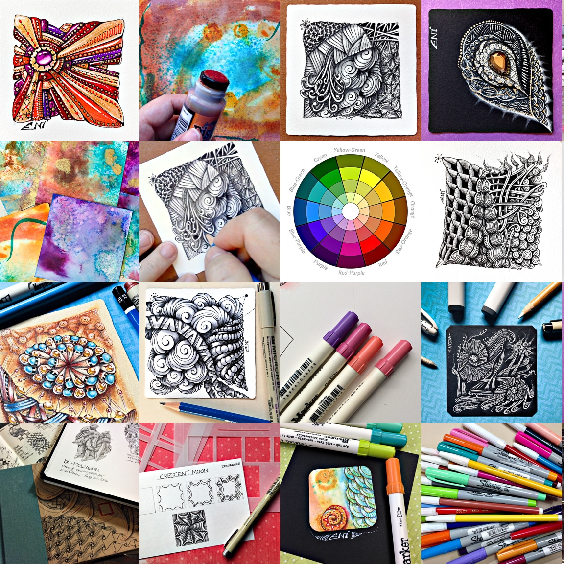 Shop lessons individually - Visit my new lesson shop on Teachable and choose from over a variety of different lessons on Zentangle, design and shading!