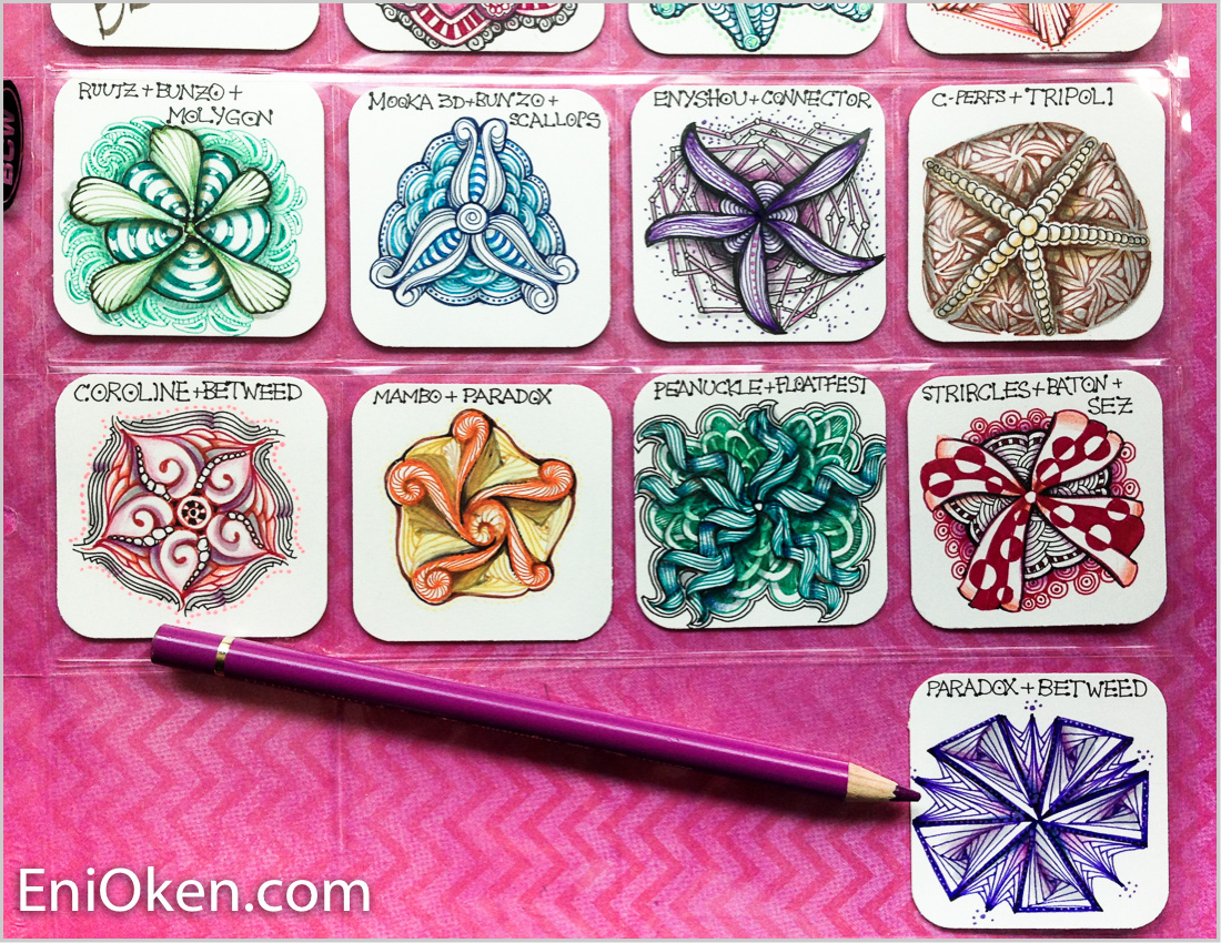 Learn how to design and create Zentangle® • enioken.com