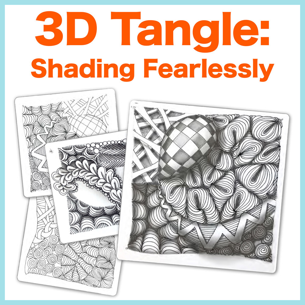 Shading Fearlessly PDF Ebook - Remove the fear of shading Zentangle® and create dramatic shading with my best selling ebook.