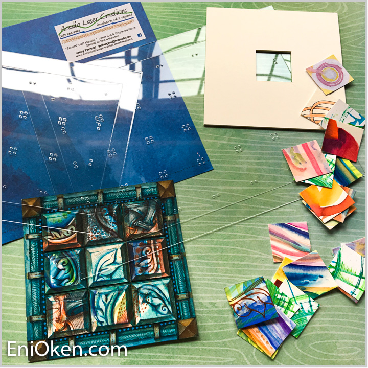 Inch by Inchie Stencil and Viewfinder set - This set comes with 2 stencils which help you to place the inchies perfectly on the page, and a sturdy plastic viewfinder to help locate and mark the inchie masterpieces. Sold through Acadia Laser Creations. Learn more