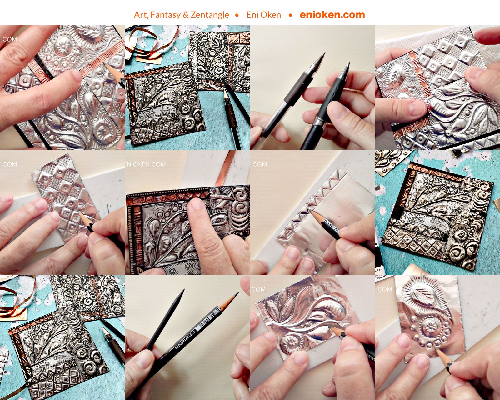 Metal Tangles lesson bundle or Ebook — Eni Oken