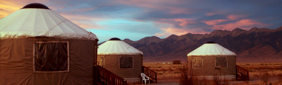 STAY IN A YURT, A TIPI, or choose a standard hotel room.