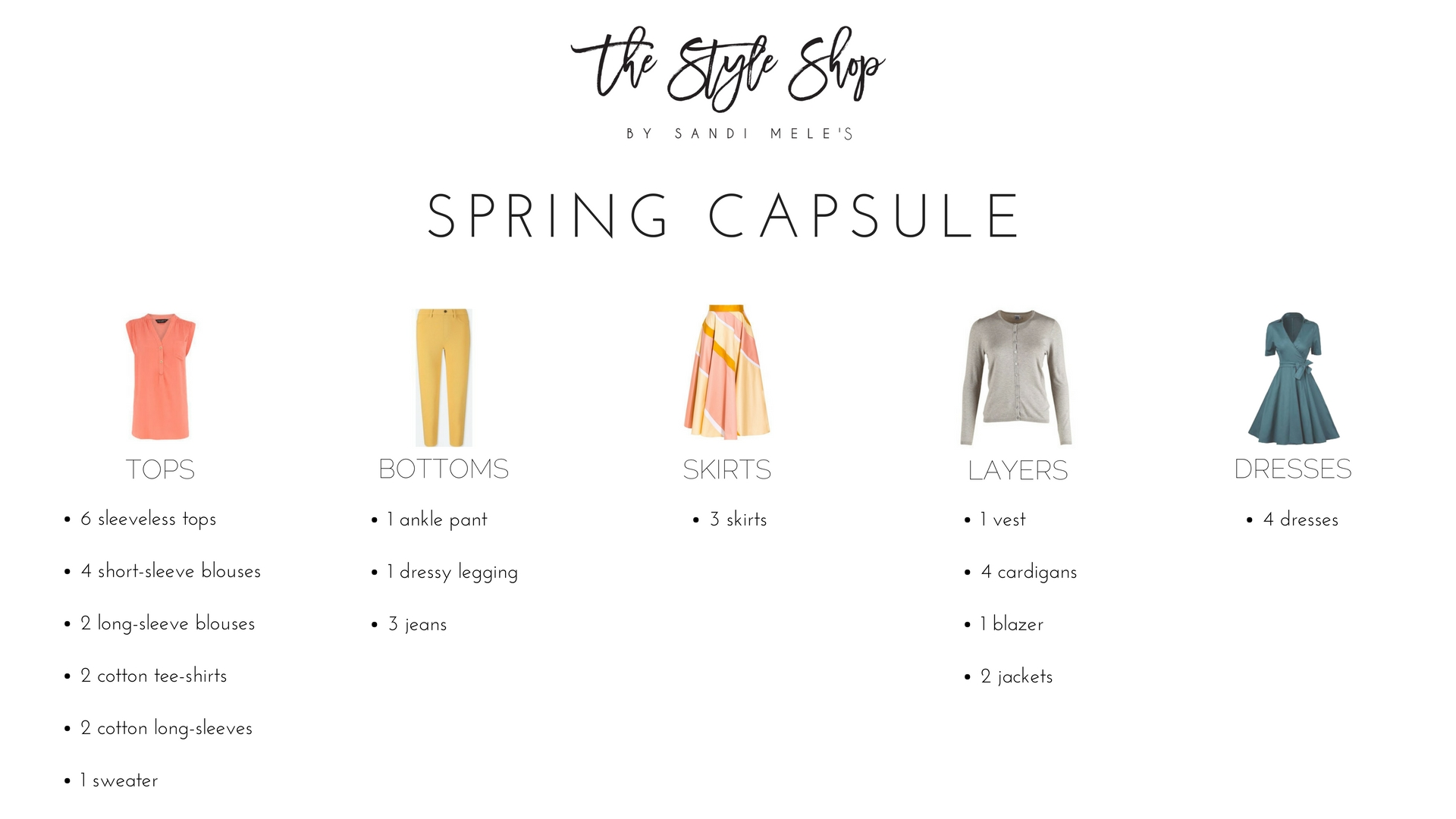 The Style Shop by Sandi Mele's Spring Capsule