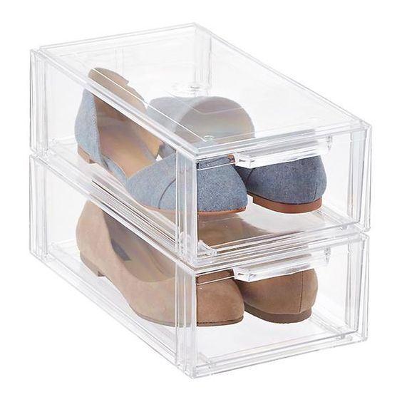 Clear Shoe Drawers from  The Container Store