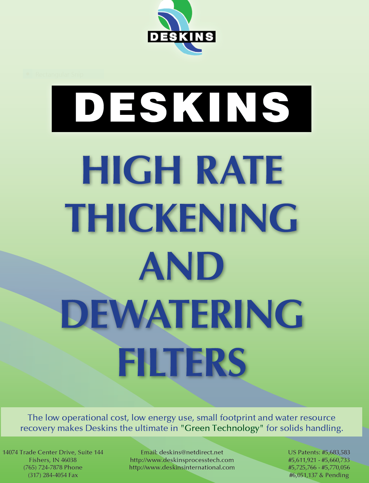 Click on image to download and learn about our high rate thickening and dewatering filters. Great for backwash water recovery and a powerful tool in recuperating biosolids!