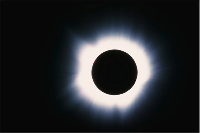 A total solar eclipse. Image courtesy of NASA.